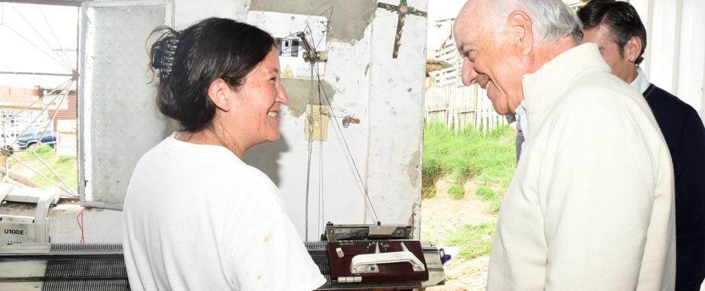 Fotografía de El presidente de BBVA durante su visita a Soacha