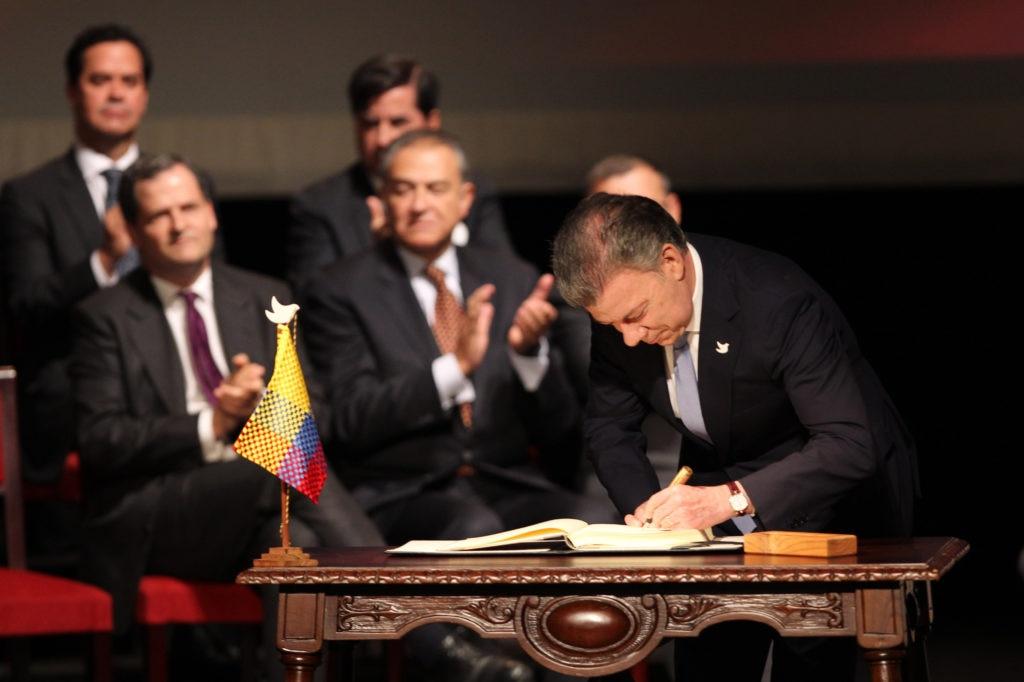 Firma nuevo acuerdo de paz en Colombia