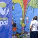 Fotografía de Mural pintado como parte de las actividades de Tejiendo Paz