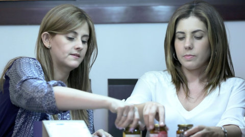 Fotografía de Gloria Arcila y Susana Filevich dos empresarias emprendedoras de Medellín