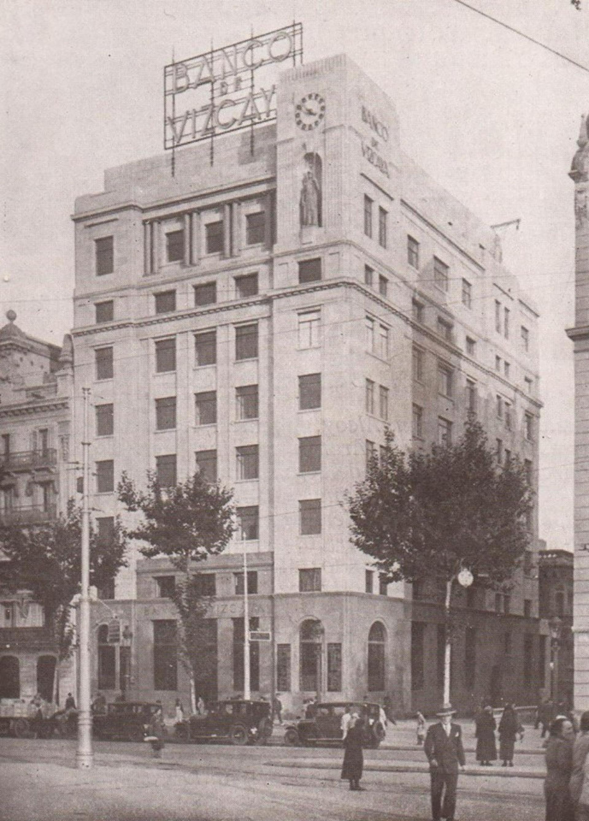 Breve historia de bbva vi el 39 crac 39 del 29 y la ii for Banco santander sucursales barcelona