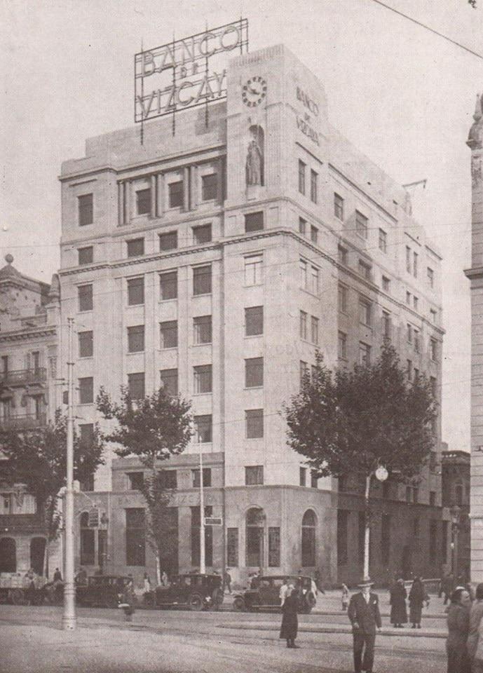 Breve historia de bbva vi el 39 crac 39 del 29 y la ii for Banco bilbao vizcaya oficinas