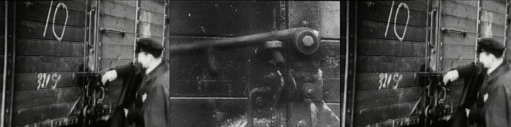 Imagen de un fotograma de la obra de videoarte Different Trains, encargada por la Fundación BBVA