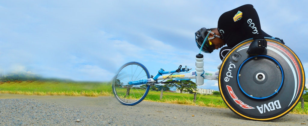 Fotografía de Francisco Sanclemente, deportista paralímpico BBVA