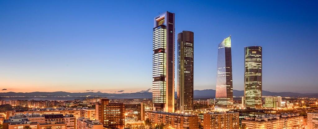 Las cuatro torres de Chamartín, Madrid