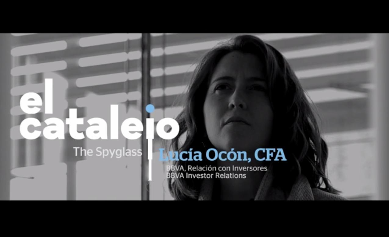 Lucía Ocón, analista financiero (CFA) del equipo de Relación con Inversores de BBVA