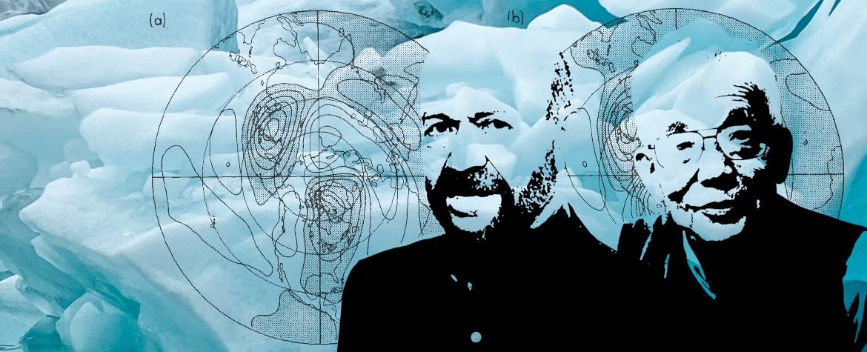 Retrato de Syukuro Manabe y James Hansen, ganadores del Premio Fundación BBVA Fronteras del Conocimiento en la categoría de Cambio Climático