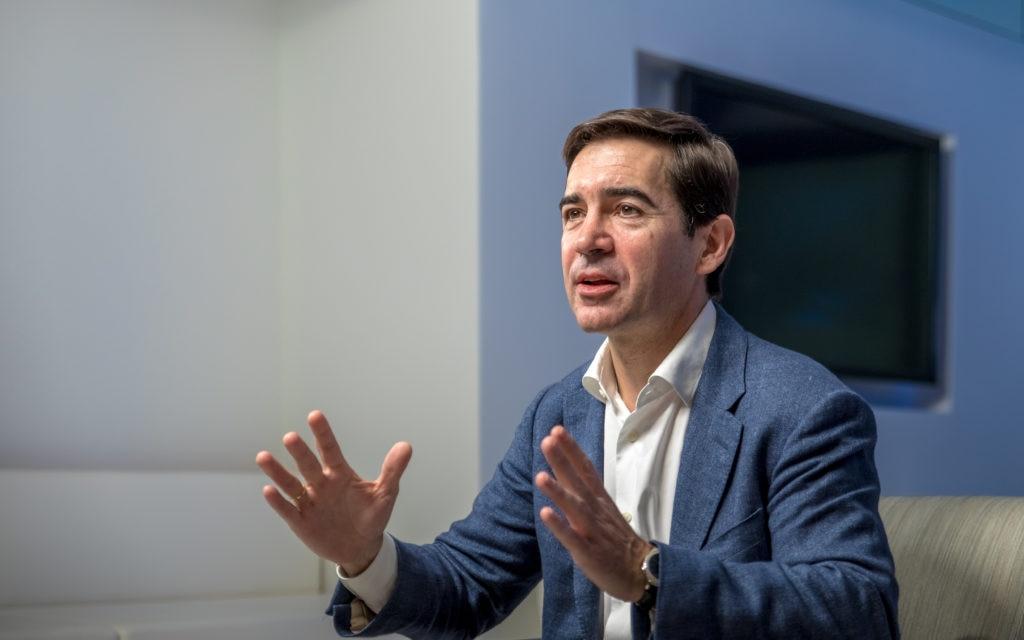 imagen de Carlos Torres Vila hablando CEO BBVA