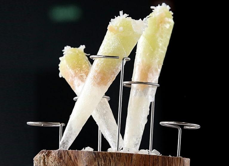 Helado de sidra y manzana con Idiazabal BBVA El Celler de Can Roca