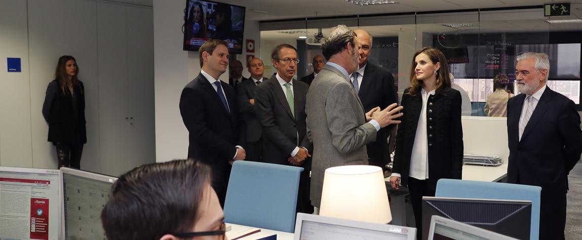 La reina Letizia visita la Fundéu BBVA