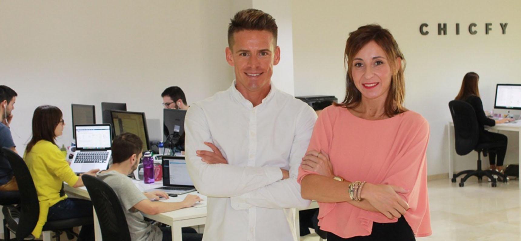 Nono Ruiz y Laura Muñoz, fundadores de Chicfy