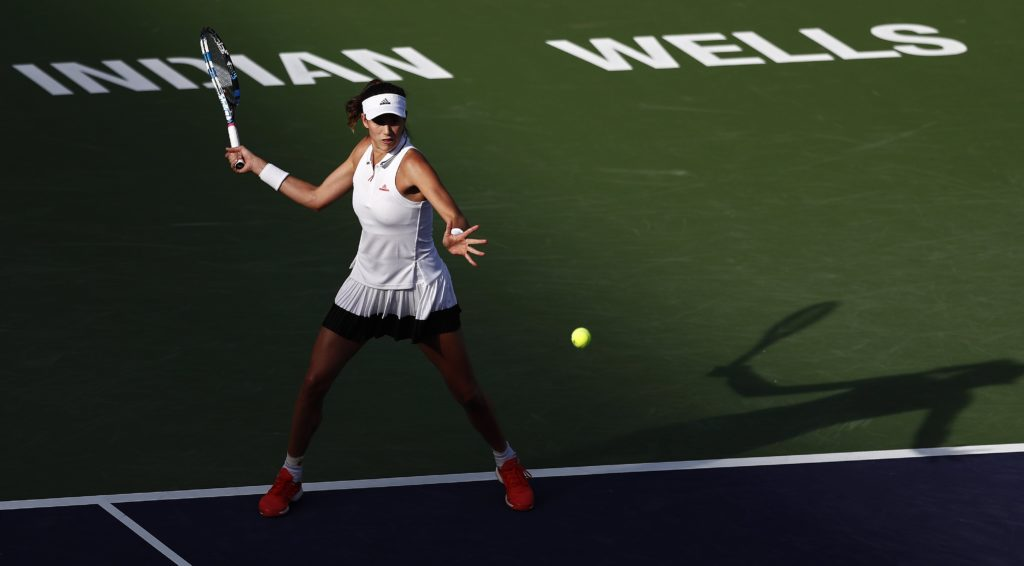 Garbiñe Muguruza en el torneo de Indian Wells