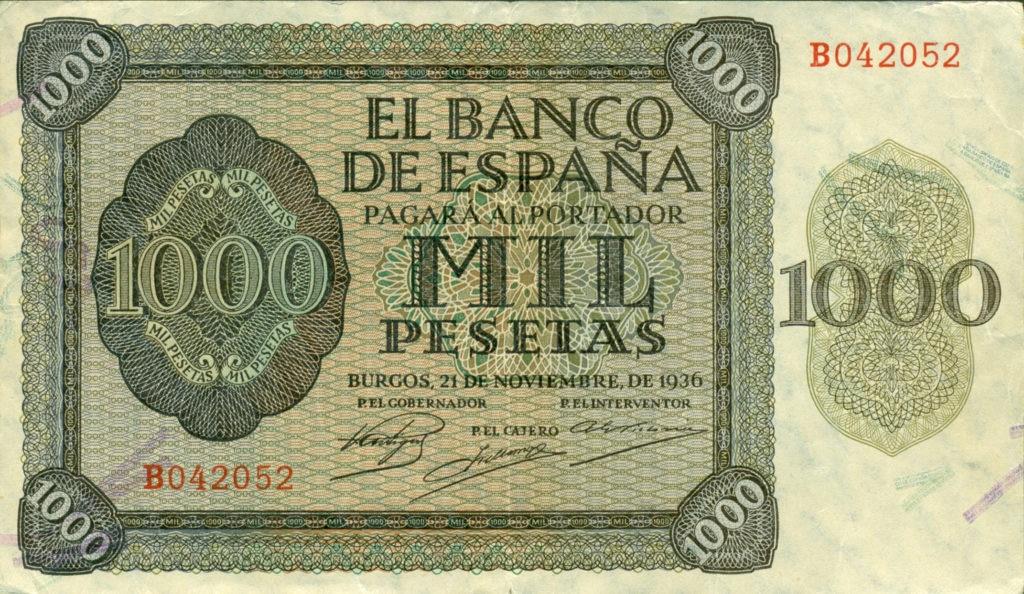 Recurso Mil Pesetas BBVA cambiar pesetas a euros
