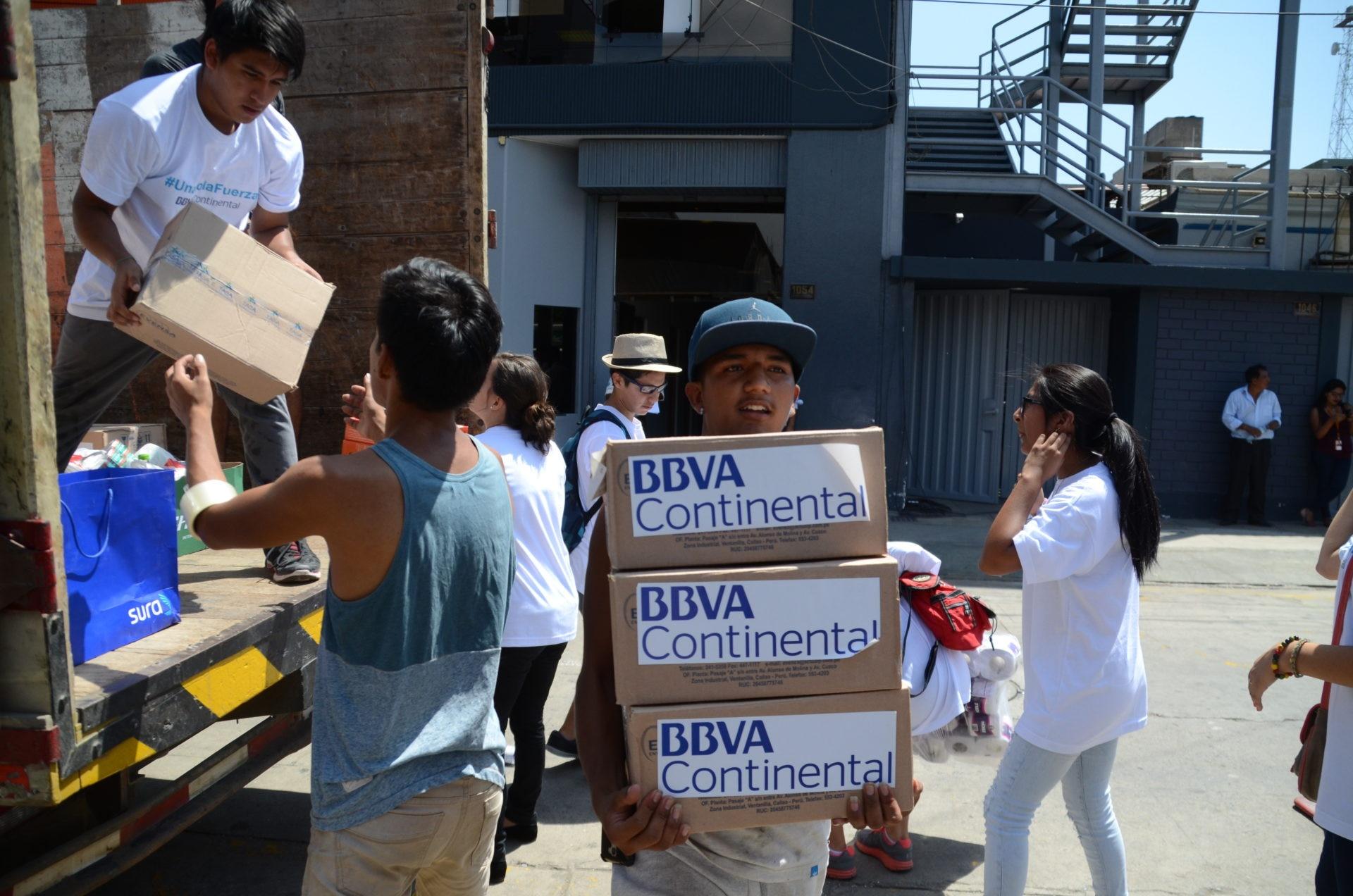 fotografia de inundaciones donaciones cajas peru bbva