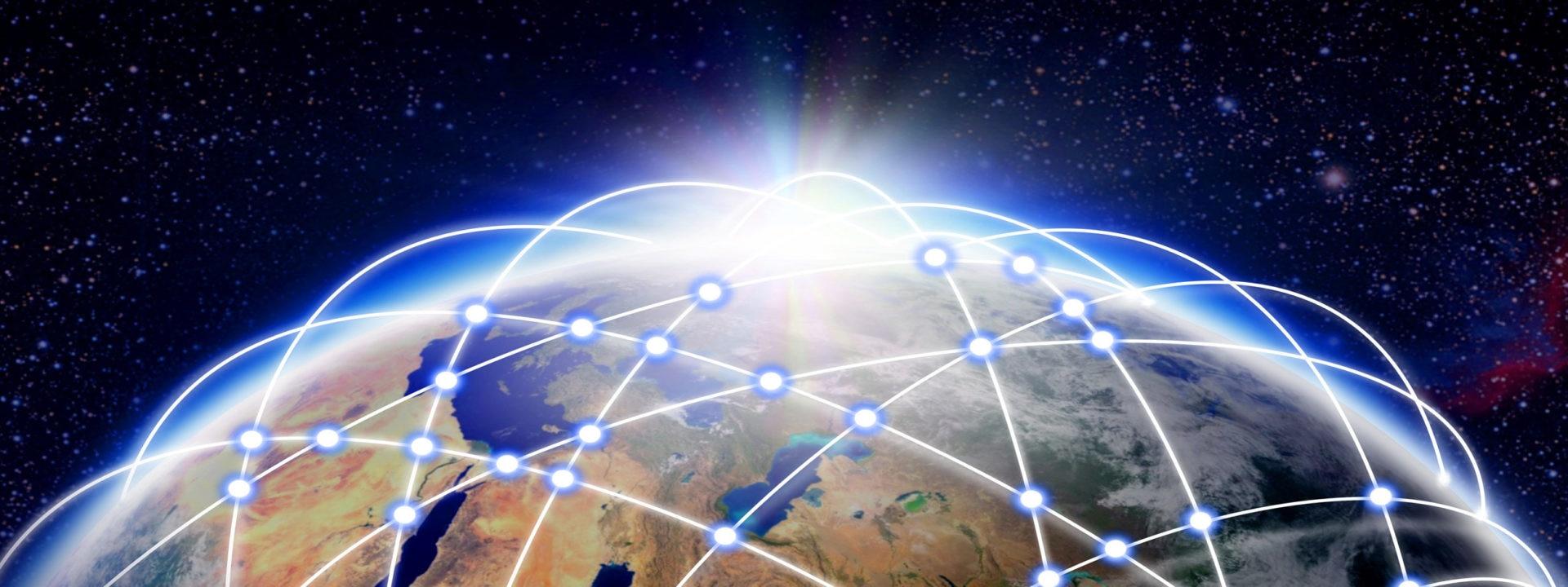 Mundo digital recurso fintech tecnología innovacion países planeta conectado