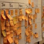 fotografia de planificacion trabajo trabajadores post-it equipo scrum agile prioridades bbva compass