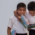 Fotografía de estudiantes peruanos del programa