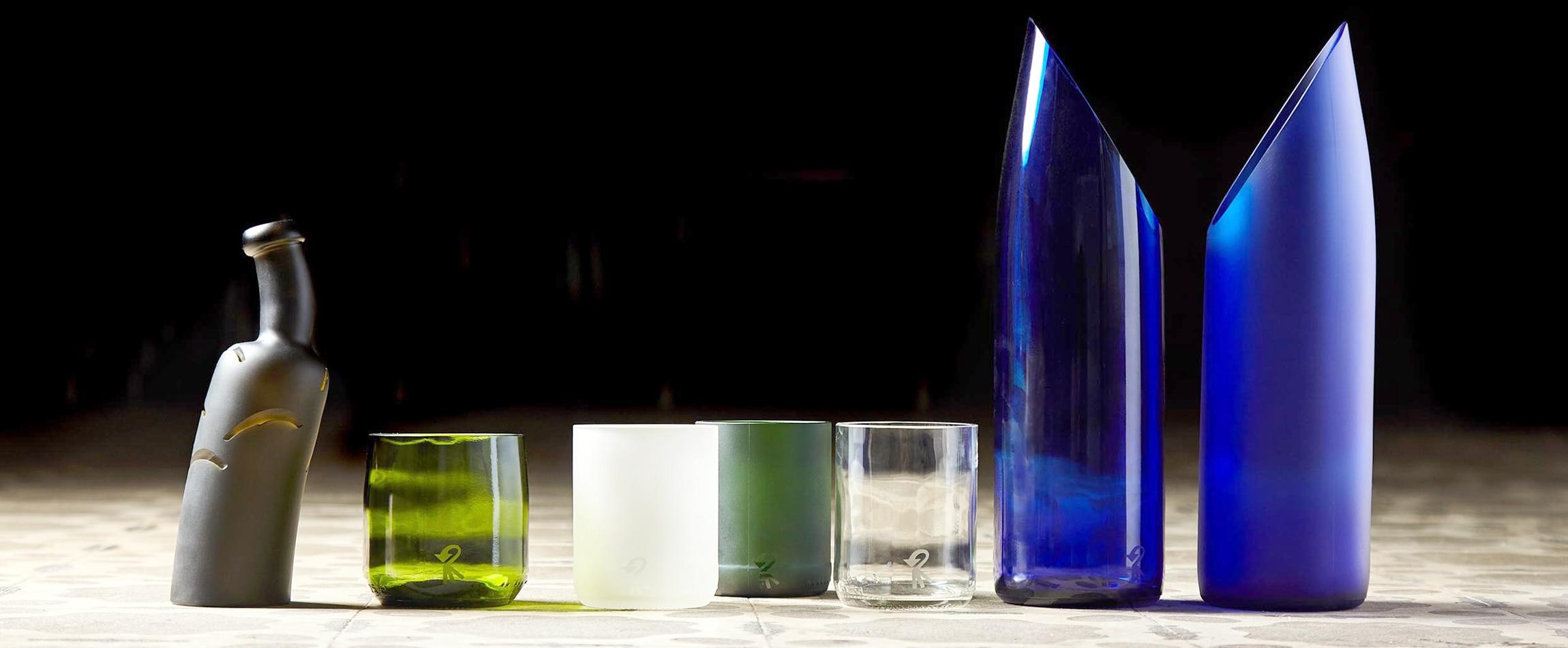 Ejemplo de botellas recovertidas de El Celler de Can Roca