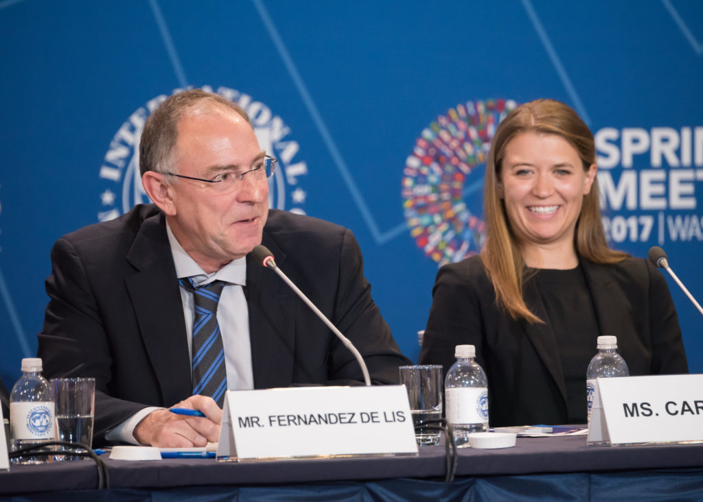 Santiago Fernández de Lis en el Grupo Fintech del FMI Reuniones de Primavera 2017