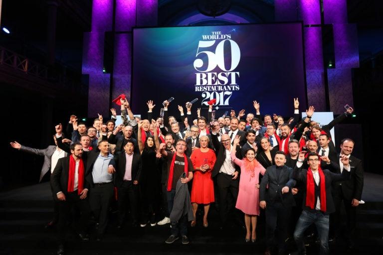 Foto de familia de los chefs de The World's 50 Best 2017 (Foto de The World's 50 Best Restaurants)
