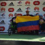 Fotografía de Francisco Sanclemente campeón maratón Madrid modalidad sillas atléticas T54
