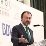 Imagen de Luis Videgaray Secretario de Relaciones Exteriores de México en el encuentro Foro América en Madrid 19 de abril de 2017