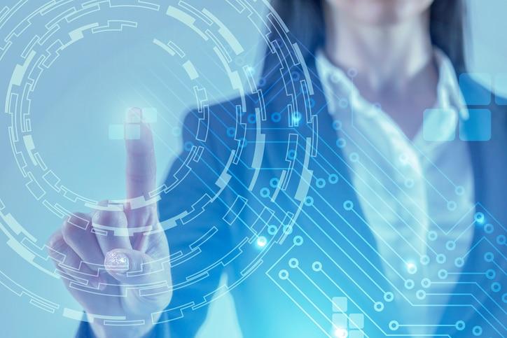 RECURSO virtual nodos fintech tech tecnologia innovacion background digital