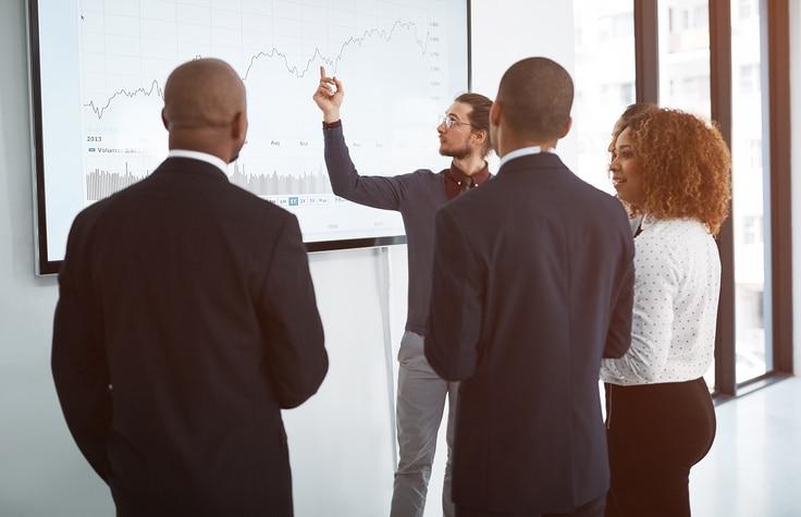think tank scrum equipo trabajo laboral agile presentacion graficos recurso