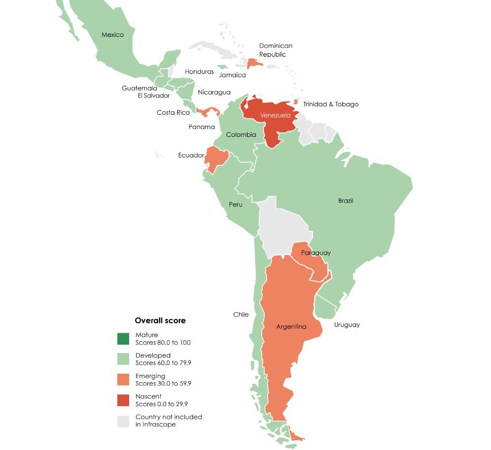 Mapa de alianzas público-privadas en América Latina