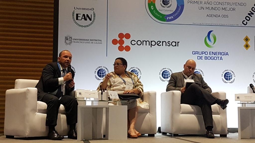 Mauricio Flores, director de Responsabilidad Corporativa de BBVA interviene en el panel