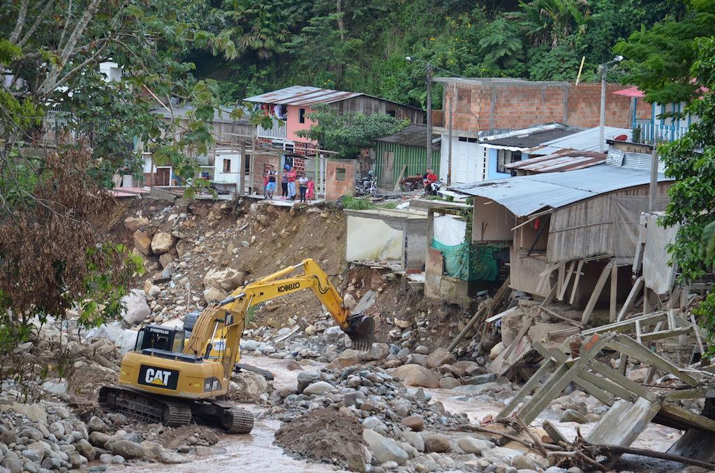 Fotografía de Mocoa Putumayo después del desbordamiento de los rísos