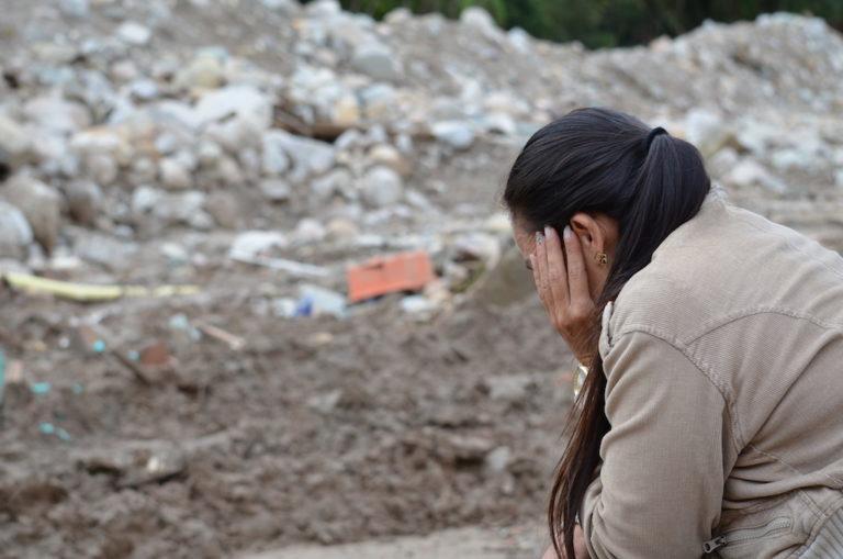 Fotografía de Desesperanza y tristeza luego de la tragedia