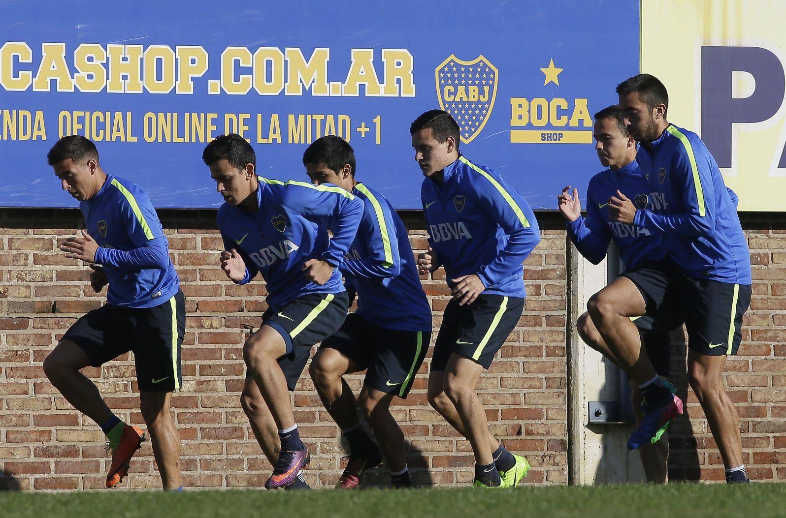 Entrenamiento Boca Juniors. BBVA Francés