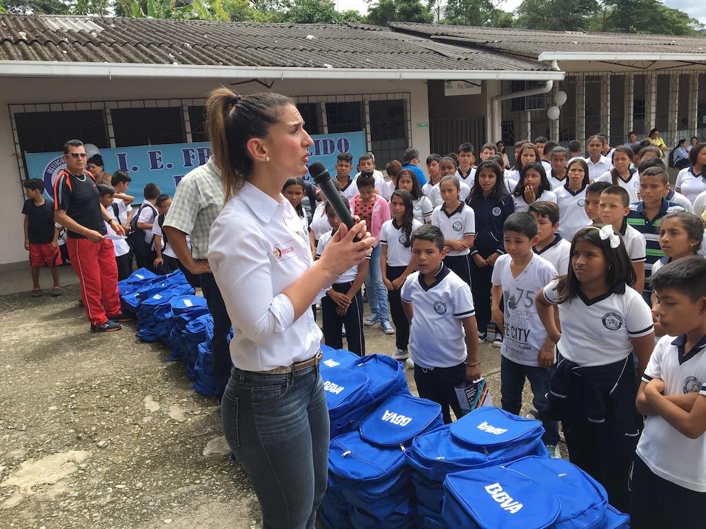 Fotografía de la Ministra de Educación