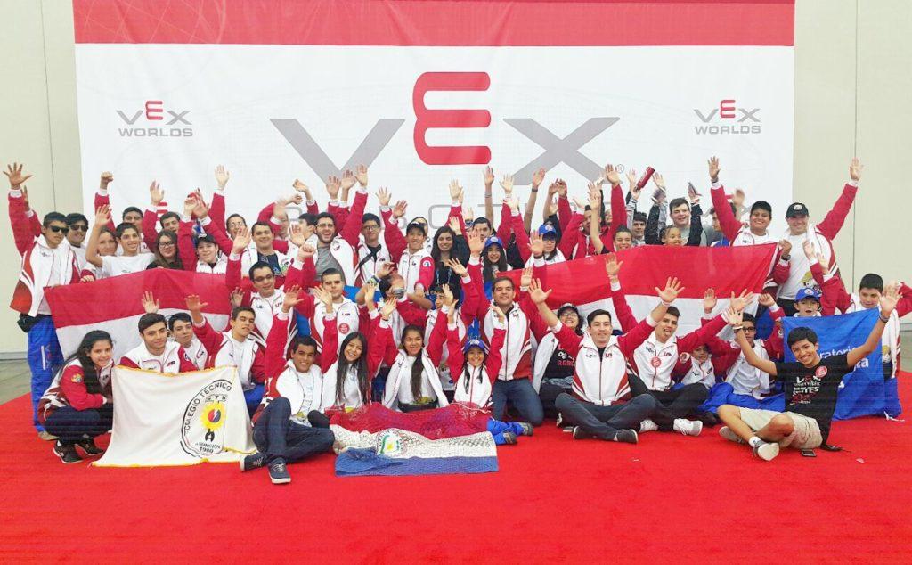 Delegación paraguaya Mundial Robótica