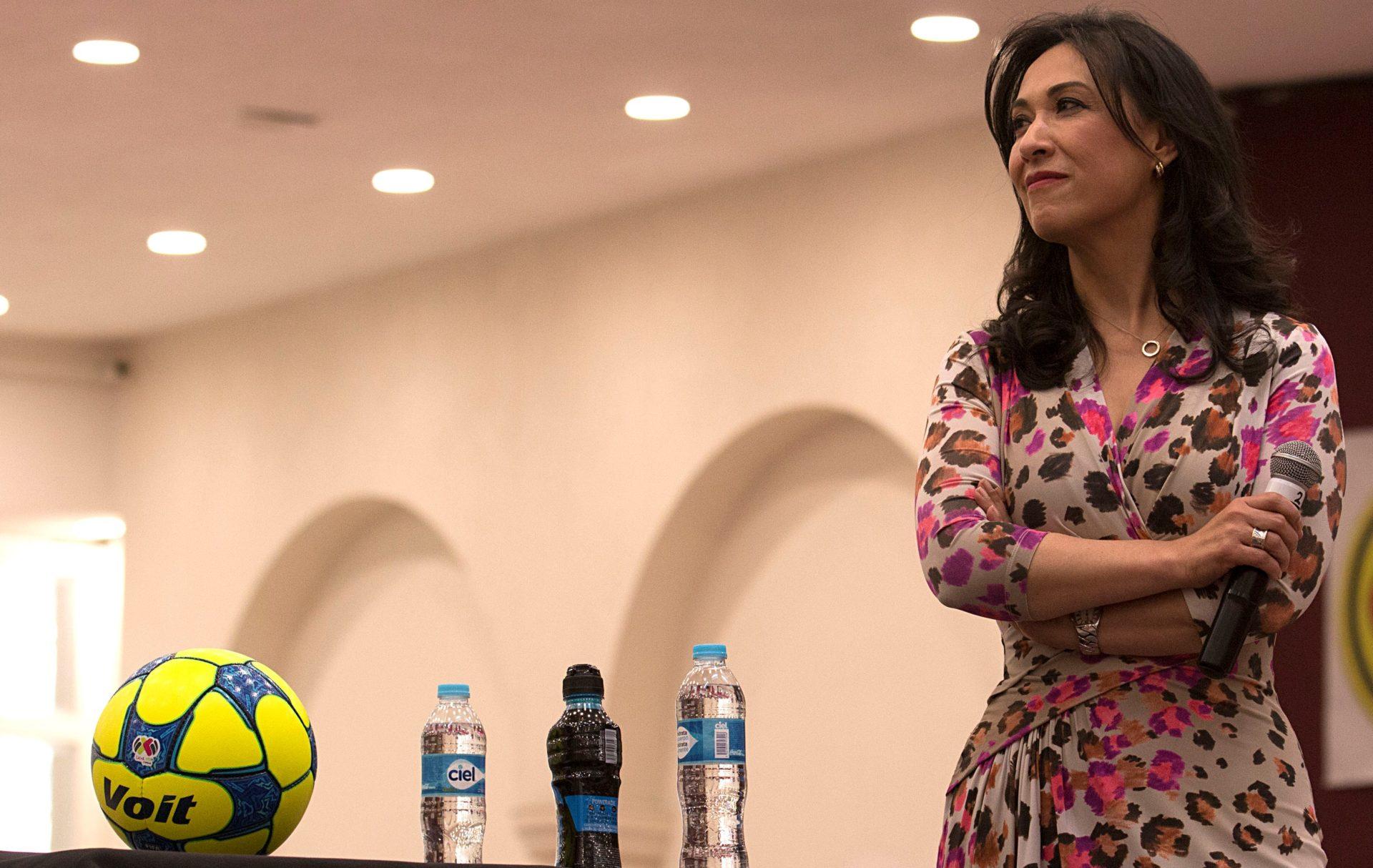 Blanca Cecilia Muñoz, Directora General de Riesgos de Bancomer en el lanzamiento de la Liga MX Femenil