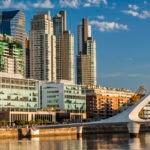 El Puente de la Mujer en Puerto Madero, Ciudad de Buenos Aires, Argentina. BBVA