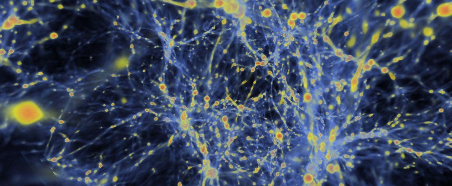 Imagen Simulación de materia oscura realizada por el Argonne National Laboratory