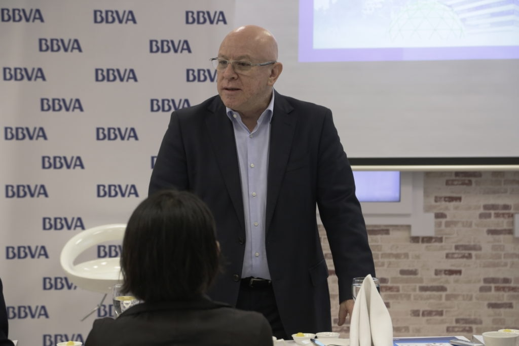 Fotografía de Pedro Buitrago VP Business Development de BBVA Colombia en jornada de BBVA Open Talent