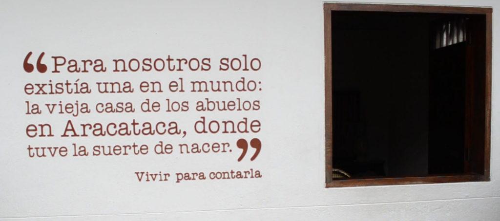 Texto de Gabriel García Márquez en Vivir para contarla - casa del nobel en Aracataca