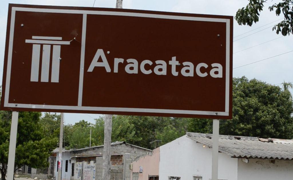Entrada a Aracataca, pueblo donde nació García Márquez