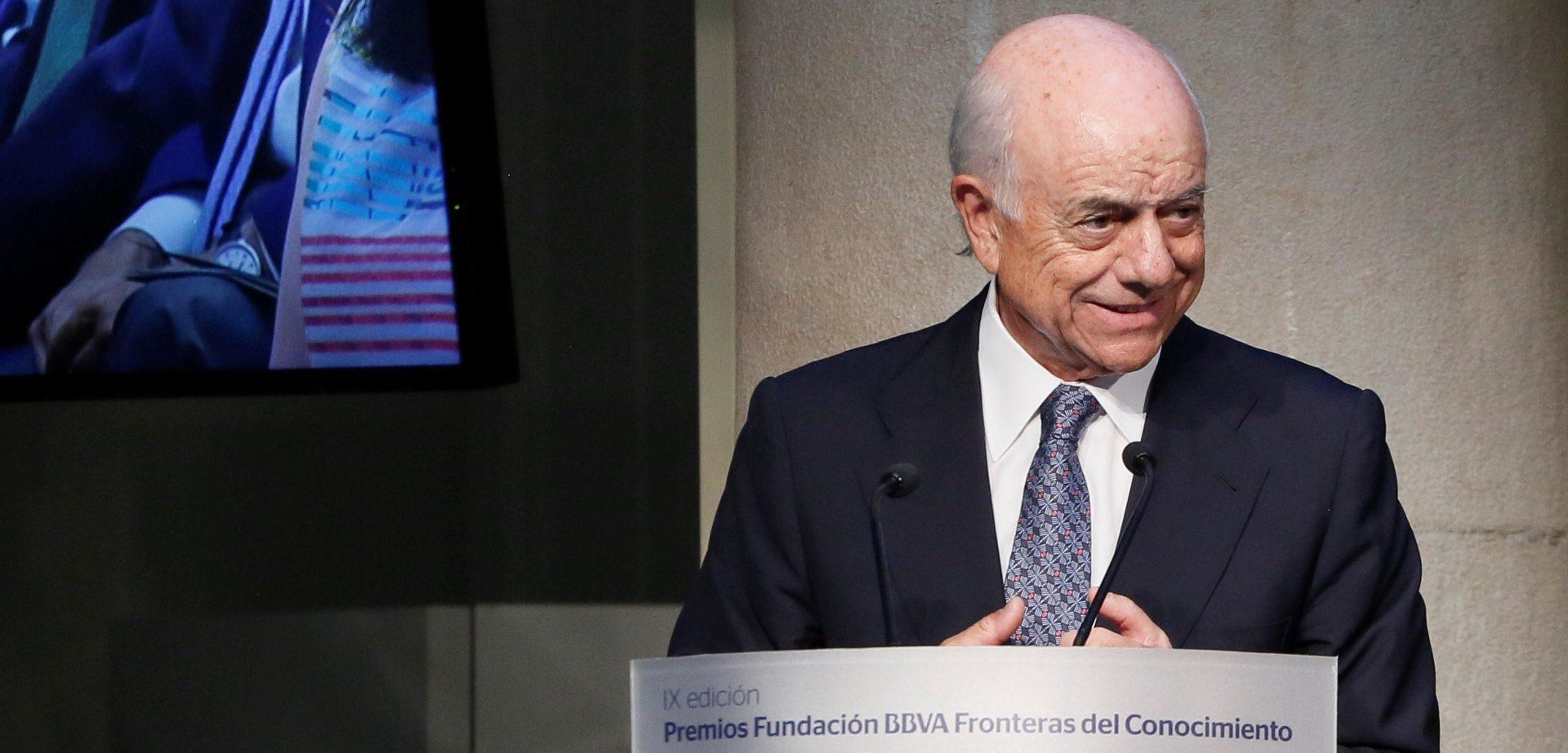 Imagen de Francisco González, presidente de BBVA, durante la ceremonia de entrega de los Premios Fronteras del Conocimiento