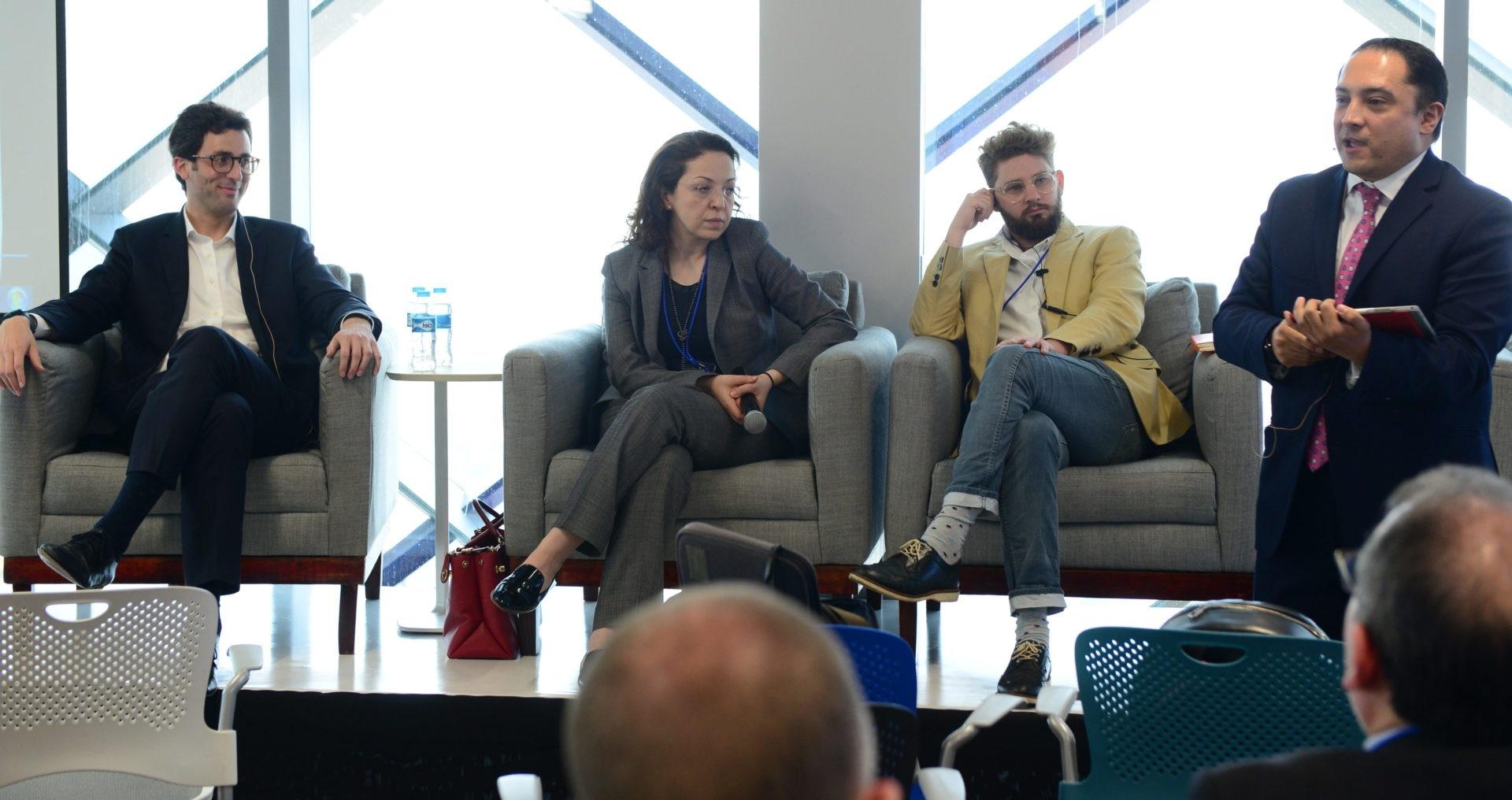 Jamie Campbell, de la startup Bud, participando en el sandbox regulatorio BVA