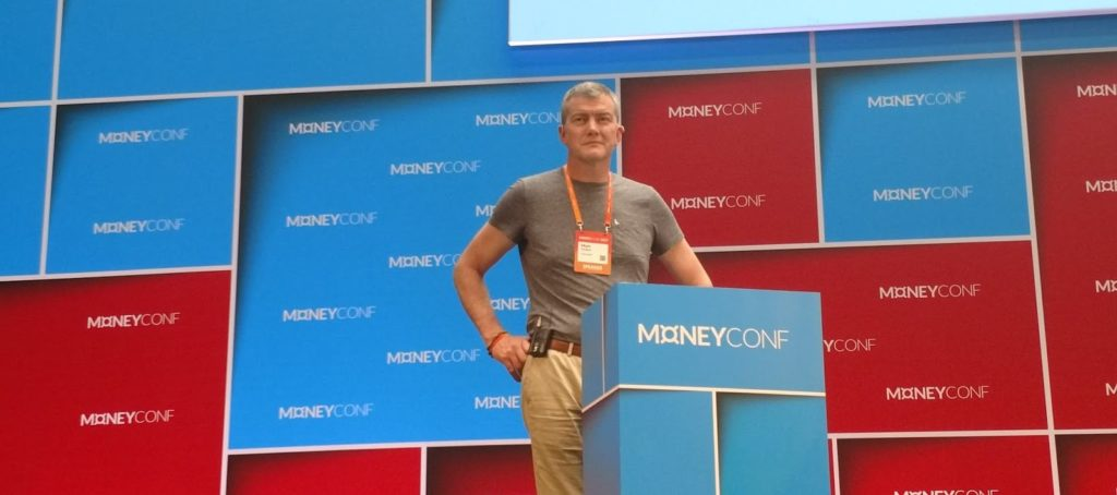 Mark Mullen, de Atom Bank, durante su intervención en MoneyConf BBVA