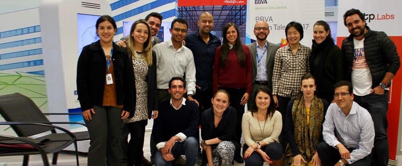 fotografía de Pitch Day en BBVA con startups del ambiente fintech