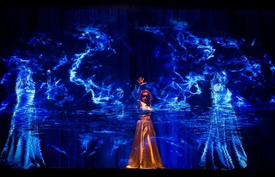 Fotografía de espectáculo con holograma organizado por BBVA Continental.