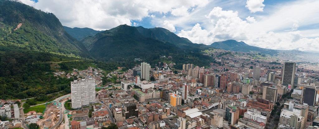 fotografía de panorámica Bogotá Situación Colombia