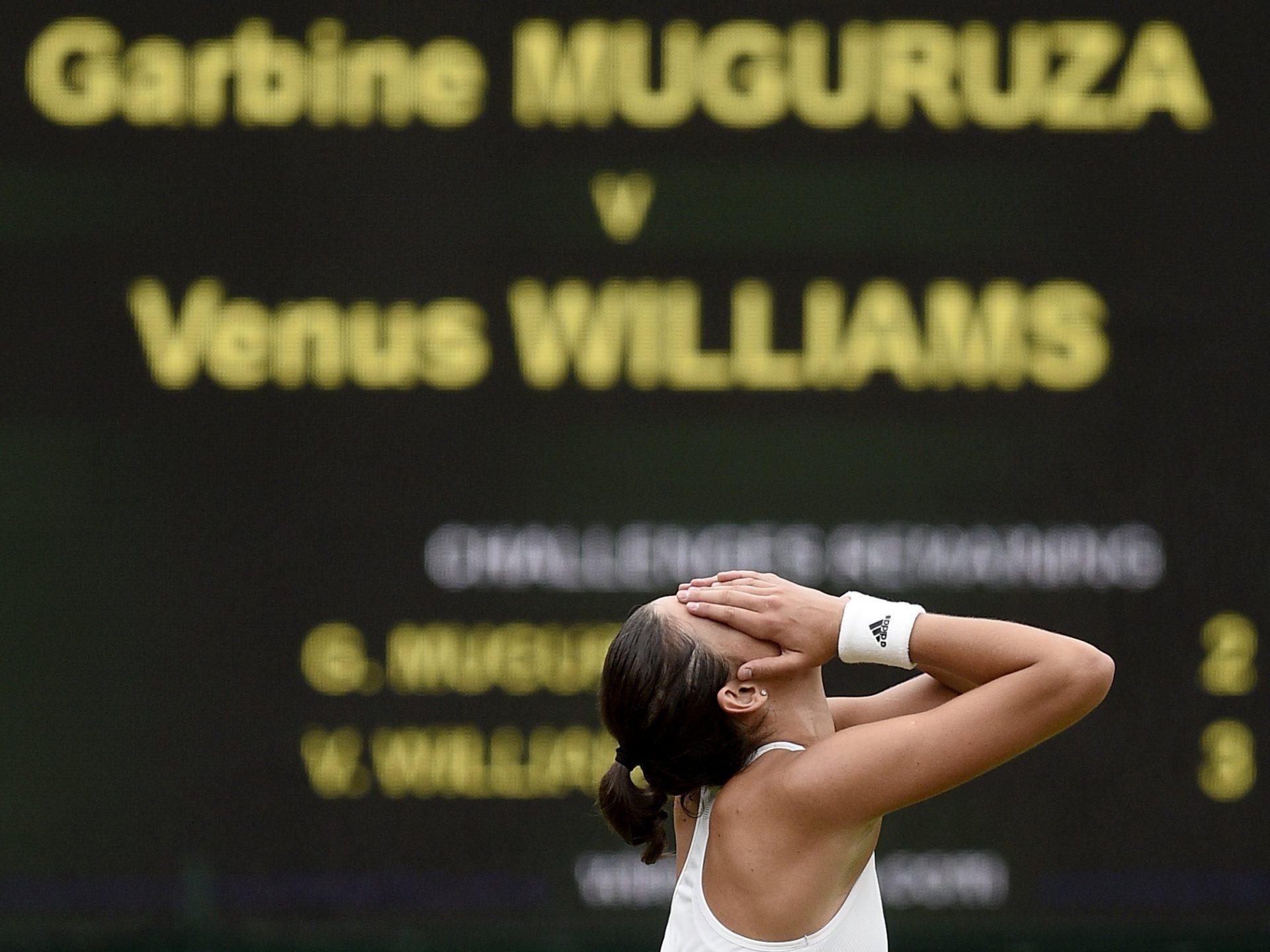 El ojo de halcón confirma la victoria de la Garbiñe Muguruza en Wimbledon