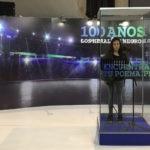 Fotografía de cabina de locución de la Fundación BBVA Continental en Feria del Libro de Lima.