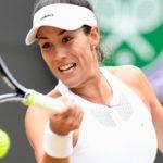 Garbiñe Muguruza en los cuartos de final de Wimbledon
